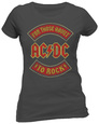 Womans: AC/DC - About To Rock Banner T-shirt til damer