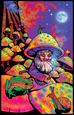 Mushroom Man Pôster fluorescente para luz negra