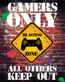 Gamers Only Controller Keep Out Miniplakat