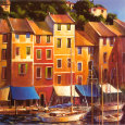 Portofino Waterfront Art Print by Michael O'Toole