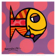 Poisson à rayures Reproduction d'art par Romero Britto