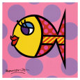 Poisson à pois Reproduction d'art par Romero Britto