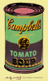 Campbell's Soup Can, 1965 (Green and Purple) Art Print by Andy Warhol