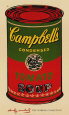 Campbell's Soup Can, 1965 (Green and Red) Art Print by Andy Warhol