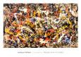 Konvergens Kunsttryk af Jackson Pollock