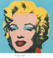 Marilyn, 1967 (On Blue) Art Print by Andy Warhol