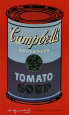 Campbell's Soup Can, 1965 (Blue and Purple) Art Print by Andy Warhol
