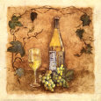 Glass of Chardonnay Art Print by Charlene Winter Olson