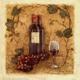 Glass of Merlot Art Print by Charlene Winter Olson