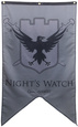 Game Of Thrones- Night's Watch Banner Póster en tela