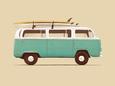 Blue Van Reprodukcja według Florent Bodart