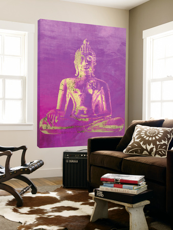 Colorful Buddha Stretched Canvas Print by | the NEW Art.com