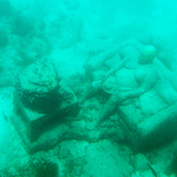 !Viva Mexico! Square Collection - Sculptures at bottom of sea in Cancun III
