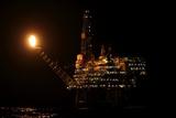 Eider Platform At Night, 60 Miles Northeast Of Shetland, North Sea