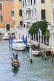 Grand Canal with Gondola. Venice. Italy