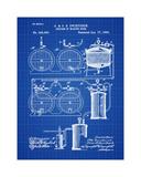 Brewery Patent 1891 Blueprint