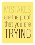Mistakes Are the proof