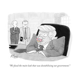 """""""""""We fixed the main leak that was destabilizing our government."""""""" - Cartoon"""