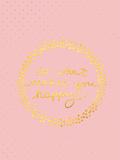 Pink Gold Glitter Pattern Typography
