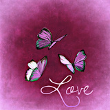 Purple Butterfly Love