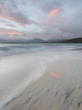 Pink Clouds and Flowing Tide at Luskentyre Beach, Isle of Harris, Outer Hebrides, Scotland