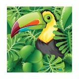 Toucan in the Green Bush Illustration