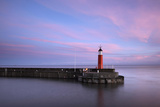 The Lighthouse at Watchet, Somerset, at High Tide under a Colourful Dawn Sky
