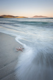 Starfish and Flowing Tide at Luskentyre Losgaintir Beach, Isle of Harris, Outer Hebrides, Scotland