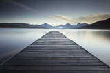A Pier on the Edge of a Lake in Montana's Glacier National Park