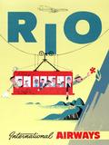 """""""""""Rio"""""""" Vintage Travel Poster, International Airways"""
