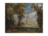 Salisbury Cathedral from the Bishop's Grounds, 1825