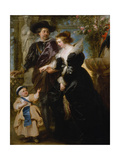 Rubens, His Wife Helena Fourment and Their Son Frans, c.1635