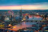 London at Sunset, Panoramic View