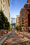 Manhattan Bridge,View from Washington Street, Brooklyn, New York