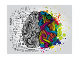Creative Concept of the Human Brain, Vector Illustration