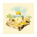 Water Color Illustration Jerusalem View
