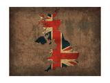 United Kingdom Country Flag Map