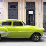 Cuba Fuerte Collection SQ - Bel Air Classic Lime Green Car