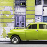 Cuba Fuerte Collection SQ - Lime Green Classic American Car