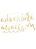 Gold Adventure Awaits Typography
