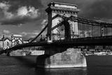Budapest Chain Bridge BW