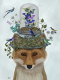 Fox with Butterfly Bell Jar