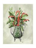 Vase Of Flamingos