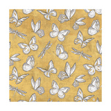 Color my World Butterfly Pattern Gold