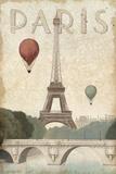 City Skyline Paris Vintage V2