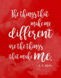 Different - A.A. Milne Diversity Quote Poster