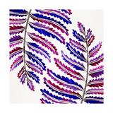 Indigo Fern Leaf Pattern