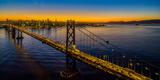Bay Bridge at dusk, San Francisco, California, USA