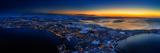 Aerial view of Reykjavik in the wintertime, Iceland