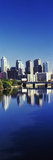 Schuylkill River with skyscrapers in the background, Philadelphia, Pennsylvania, USA
